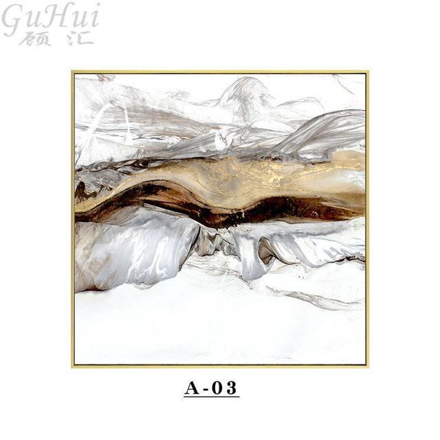 3 11 52 De Réduction Abstrait Encre Toile Peintures Chinois Noir Or Blanc Affiche Impression Nordique Mur Art Photo Pour Salon Maison Bureau