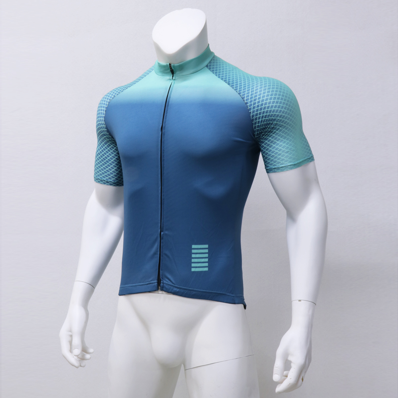 Bike Shirt Rcc Short-Sleeve Cycling Jersey Bicycle-Bisiklet Maillot Breathable Blue Light