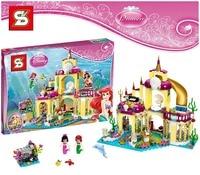 Princess Ariel S Undersea Palace Building Block Set Girl Friends Mermaid Ariel Model Actionfigure Bricks Legolittler