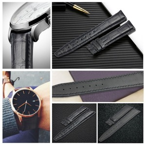 Image 3 - ZLIMSN Customized Crocodile Leather Strap Fit For IWC PORTUGIESER PORTOFINO JUBILEE COLLECTION Universal Leather WatchBand