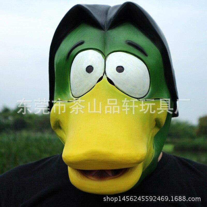 Hot mignon Animal masque Deluxe nouveauté Latex caoutchouc effrayant drôle jaune canard tête masque Halloween fête Cosplay Costume décorations