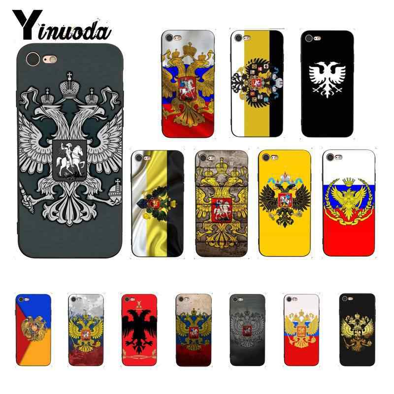 Yinuoda Russian coat of arms Eagle Wings Flag Customer Quality Phone Case for iPhone 6S 6plus 7 7plus 8 8Plus X Xs MAX 5 5S XR