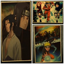 Anime Posters Vintage Retro Uzumaki Naruto Luffy One Piece Sticker