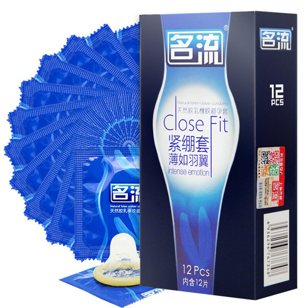 MingLiu 48Pcs Super Tight Small Size Condones Ultra Thin Close Fit Condoms Intense Latex Rubber Penis Sleeves Men Safe Sex Tool in Condoms from Beauty Health