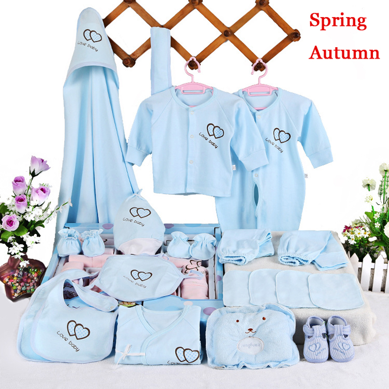 2019 NEW 22Pieces Newborn Baby Girls Clothing 0 6months Infants Baby Clothes Girl and Boys Clothing Baby Gift Set Without Box