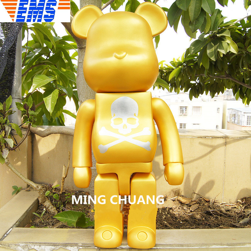 все цены на Bearbrick Gloomy Kaws Be@rbrick BRIAN Street Art BASIC Christmas Present Vinyl Action Figure Collectible Model Toy 70CM BOX Z42