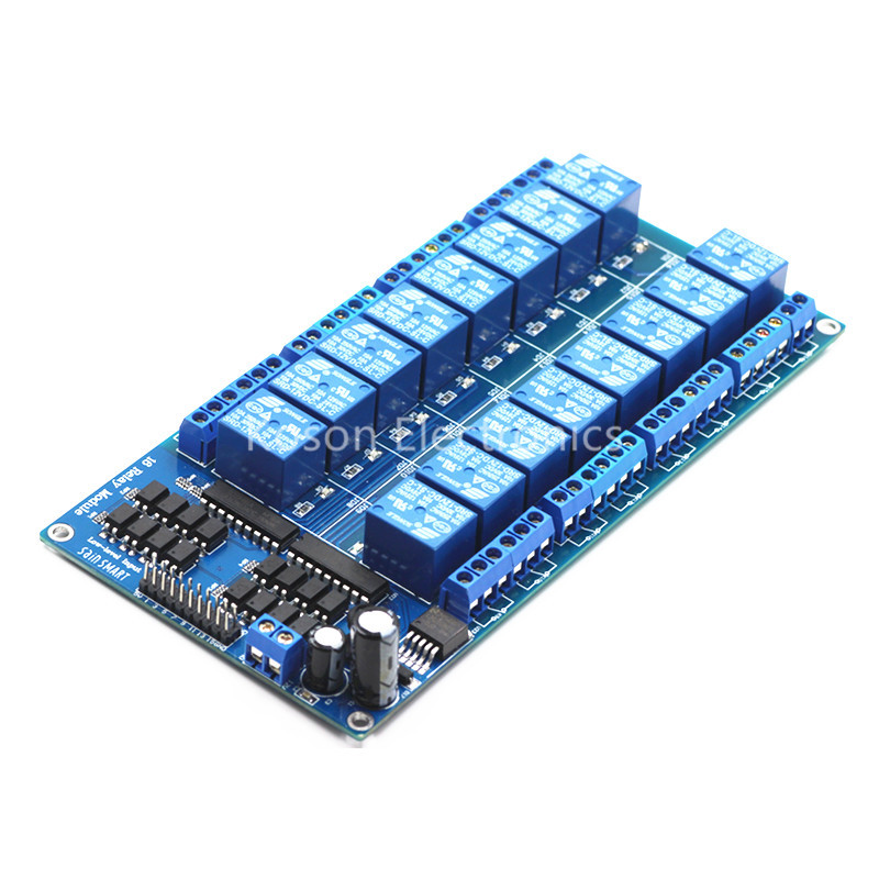 все цены на 12V 16 Channel Relay Module Interface Board For Arduino PIC ARM DSP PLC With Optocoupler Protection LM2576 Power онлайн