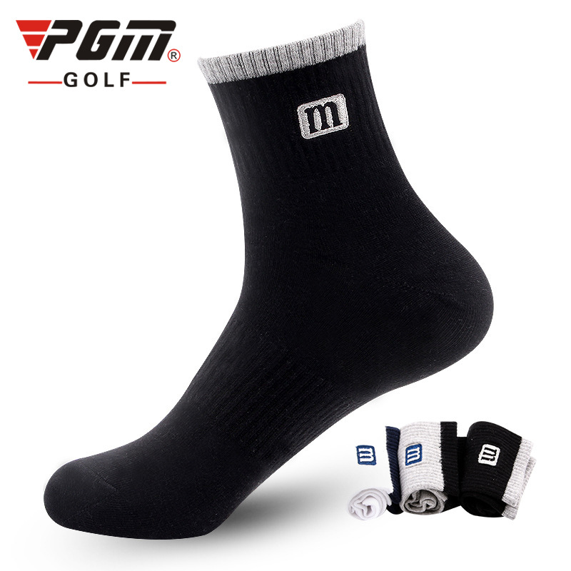 PGM golf socks men and women cotton sports socks four seasons thin middle canister socks sweat breathable comfortable