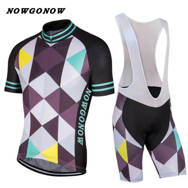 Can custom Men 2017 cycling jersey set clothing bike wear riding Mountain  road wear NOWGONOW bib shorts gel pad Ropa ciclismo 5f967b293