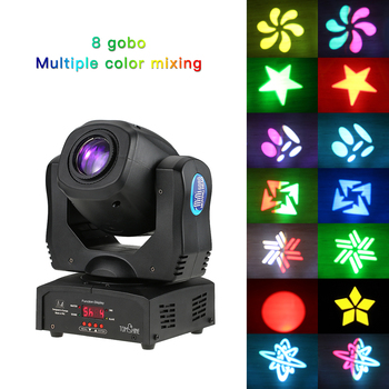 Tomshine 80W DMX512 Sound Control Auto Rotating 9  11 Channels Rainbow 8 Colors Moving Head LED Stage Light Gobo Pattern Lamp цвета apple watch 4
