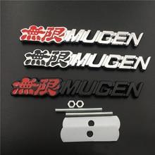 цена на For Mugen Logo Car Front Grille Emblem Badge Metal Auto Styling for Honda Jazz Civic CRV Crosstour HRV Odyssey City Jade Insight