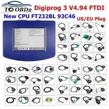 مجموعة كاملة لتصحيح عداد المسافات Digiprog 3 DigiprogIII V4.94 عدد الكيلومترات المبرمج الأحدث Digiprog 3 V4.94