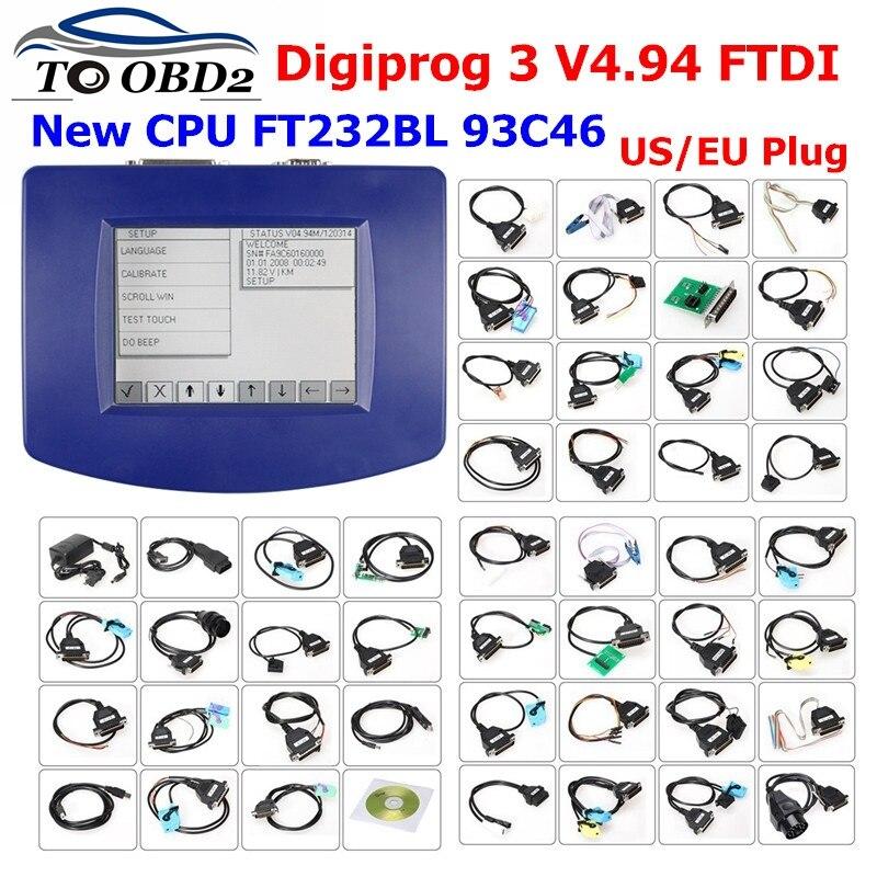 Latest Digiprog 3 V4.94 Digiprog III Digiprog3 Odometer Correction Full Set Digiprog-3  DigiprogIII V4.94 Mileage Programmer