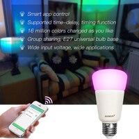 9W E27Smart RGBW Wireless WIFI App Control LED Bulb(Zigbee Version) Intelligent lighting lamp color change dimmable AC100 240V