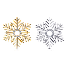 Trend Personality Copper Brooch Exquisite Beautiful Snowflake Zircon Pin Party Wedding Jewelry High Quality