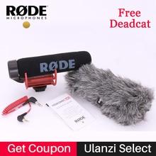 Ulanzi Profesyonel On-Kamera Vlogging GITMEK VideoMic Rode Mikrofon Shotgun Mic VMGO Ücretsiz Deadcat Cam Nikon Canon DSLR için
