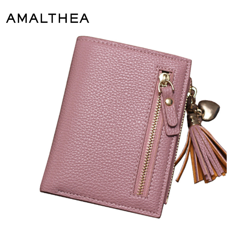 AMALTHEA Wallet Female Card Holder For Women Wallets And Purses For Women Coin Purse Kaarthouder Girls Wallet Carteira AMWP090