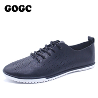 GOGC Designer Shoes Women Summer Brand Lace Up Footwear Breathable Soft Hollow Out Flat Shoes Women