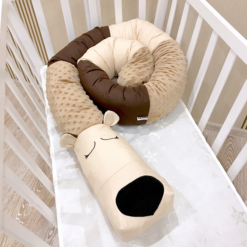 Baby Crib Bumper  Crib Baby Toddler Room Decor Animal Cartoon Safety Protection Pad Multifunction YBD008