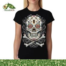 Floral Skull Women T-shirt S-3XL NewStreetwear Funny Print Clothing Hip-Tope Mans T-Shirt Tops Tees Hot Sale Men T Shirt Fashion