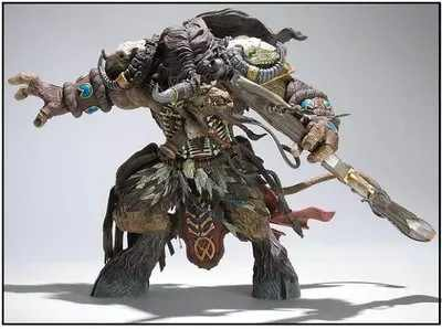 Pacote Original WOW DC3 Korg highmountain Tauren Hunter action Figure Toy Collectible Modelo de BRINQUEDO