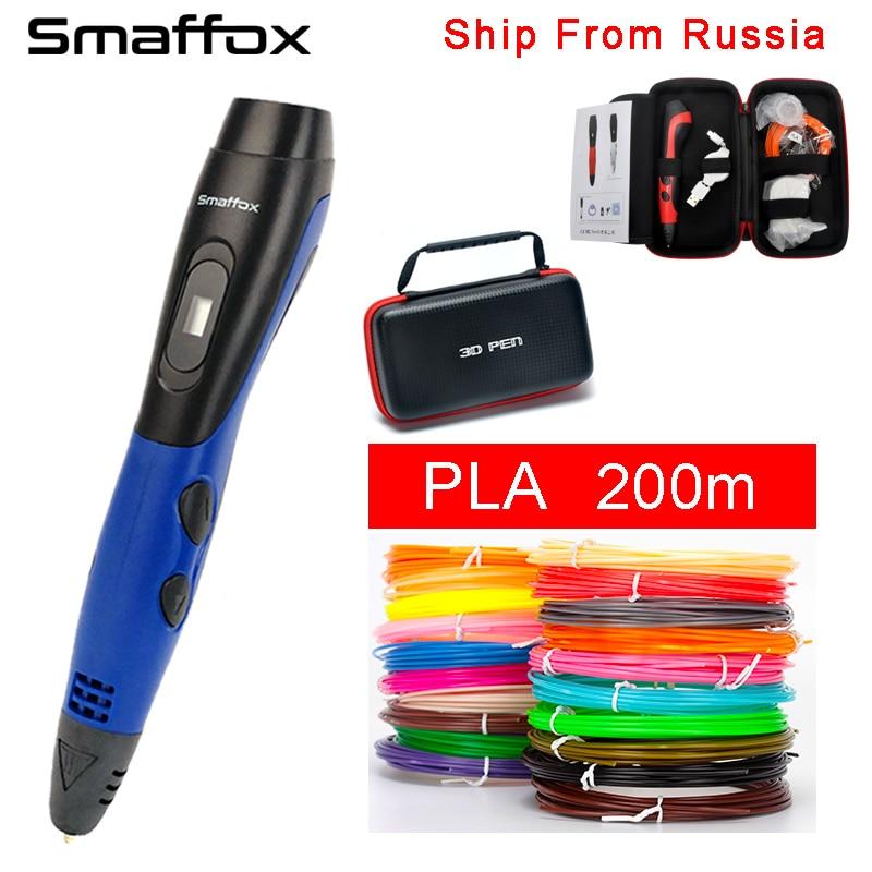 original-smaffox-3d-pen-with-pla-filament-3d-printer-pens-with-5v-2a-adapter-oled-display-artist-drawing-pen-3d-molding