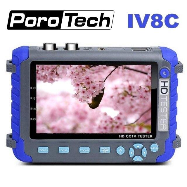 מקצועי אבטחת CCTV בדיקות כלי IV8C 5 אינץ TFT LCD 5MP AHD TVI 4MP CVI CVBS טלוויזיה במעגל סגור מצלמה בודק צג תמיכת PTZ UTP