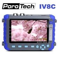 Professional CCTV Security Testing Tool IV8C 5 Inch TFT LCD 5MP AHD TVI 4MP CVI CVBS CCTV Camera Tester Monitor Support PTZ UTP