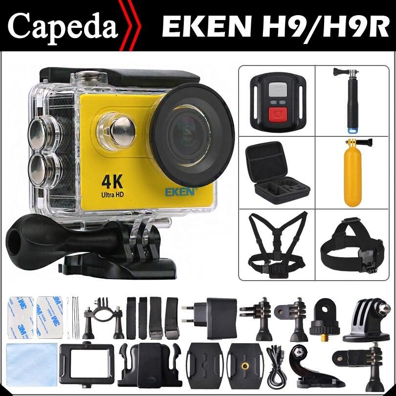 """Original EKEN H9 / H9R Ultra HD 4K / 25fps Remote WiFi  2.0"""" LCD  waterproof pro Helmet Cam underwater go Sport Action camera"""