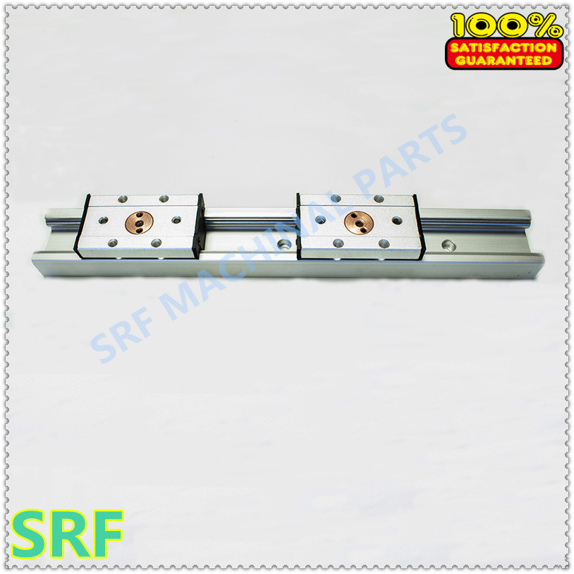 2pcs Silver aluminum Double axis roller linear guide SGR35 L=1300mm +2pcs SGB35-5UU block linear Motion slide rail for CNC part