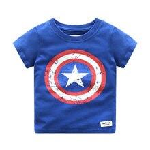 2021 verão capitão américa bebê meninos t camisa crianças puro algodão dos desenhos animados avenger manga curta topos camisa camisa garcon meninos roupas