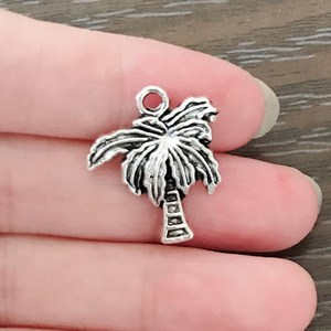 20 шт богемное кокосовое дерево очарование цинковый сплав тропический кокосовый кулон Пальма Шарм для браслета ожерелье серьги ювелирные и...