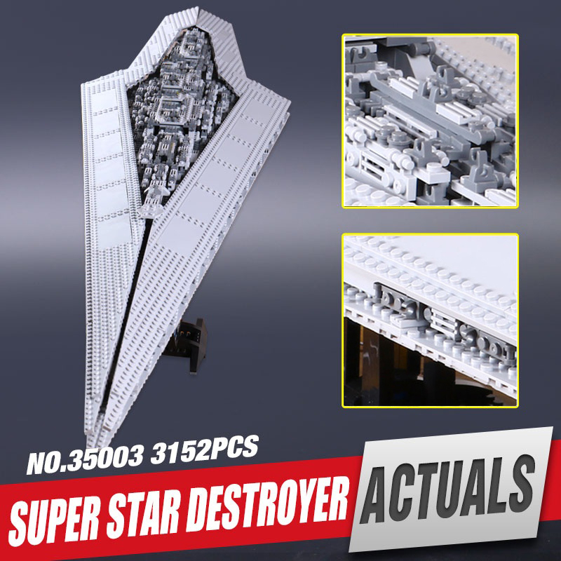Genuine lele 35003 Eucational Toys Building Blocks toy Star Wars Execytor Imperial Destroyer Model Block Brick Compatible 10221 2017 new lepine pirate ship imperial warships model building kits block briks toys gift 1717pcs compatible lele 10210