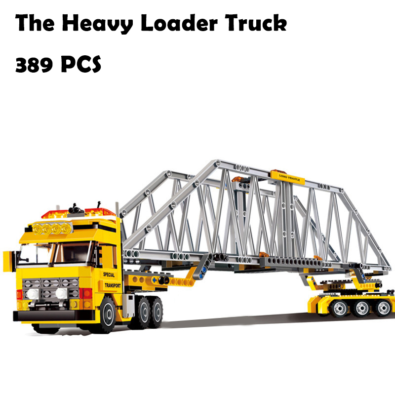 Model Building Blocks toys 02041 The Heavy Loader Truck compatible with lego City Series 7900 Educational DIY toys & hobbies 0367 sluban 678pcs city series international airport model building blocks enlighten figure toys for children compatible legoe