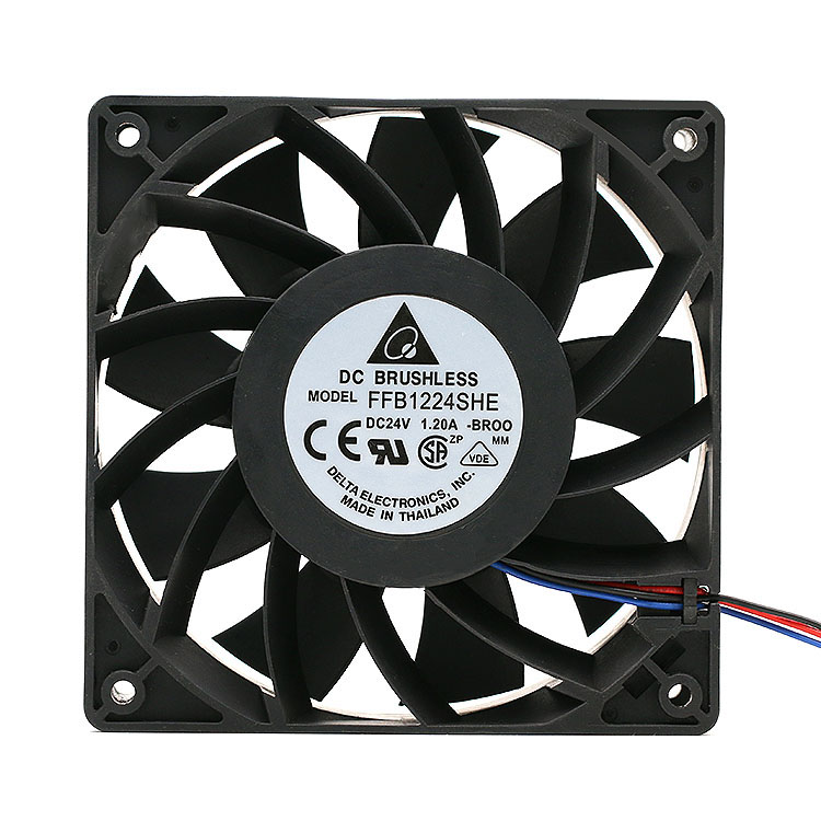 Delta FFB1224SHE 12038 24 v 1.20 5500 RPM big air volume converter cooling fan for 120*120*38mm delta afb1212hhe 12038 12cm 120 120 38mm 4 line pwm intelligent temperature control 12v 0 7a