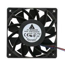 Delta FFB1224SHE 12038 24 v 1.20 5500 RPM büyük hava hacmi dönüştürücü soğutma fanı 120*120 * 38mm