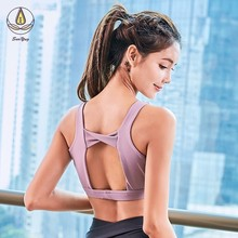 New Women Sports Bra Top Fitness Quick Dry Gym Workout Brassiere Padded Push Up Yoga High Support Athletic Running Shirt