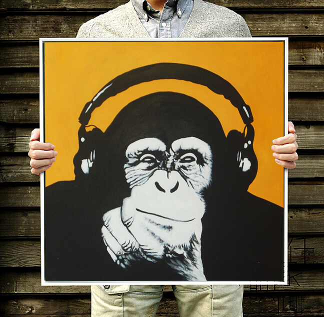 ₪Cuadros decorativos modernos gorila pintura abstracta moderna de la ...