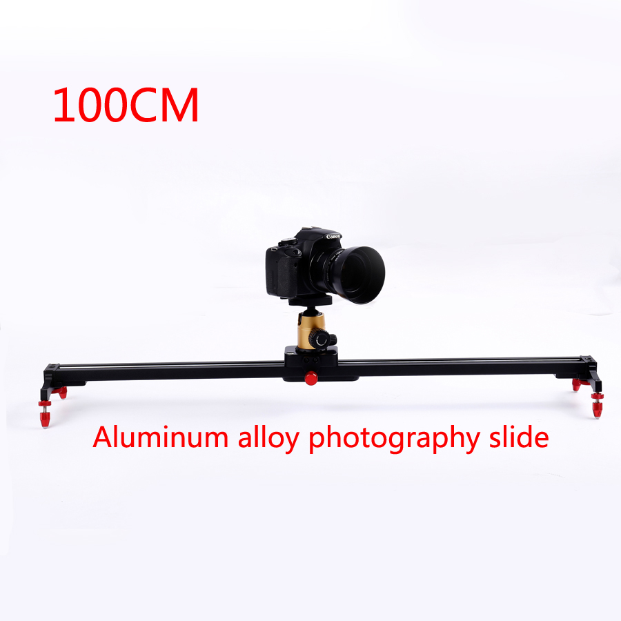 Pro 100cm Camera Track Dolly Slider Rail System Stabilizing Movie Film Video for DSLR DV Cameras Camcorder Photography ashanks 60cm camera track slider 4 bearings rail slide aluminum alloy photography dv studio stabilizer for dslr video camcorder