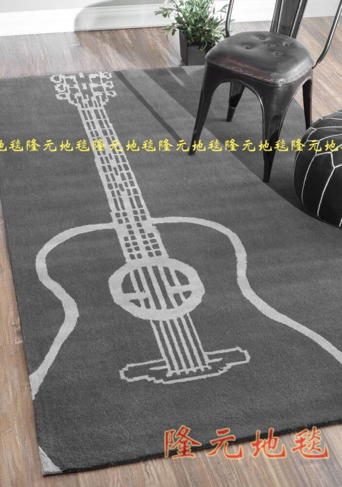 Tapis guitare Cool tapis fait main tapis zone musicale tapis de salon contemporain tapis de sol Durable pour garçons