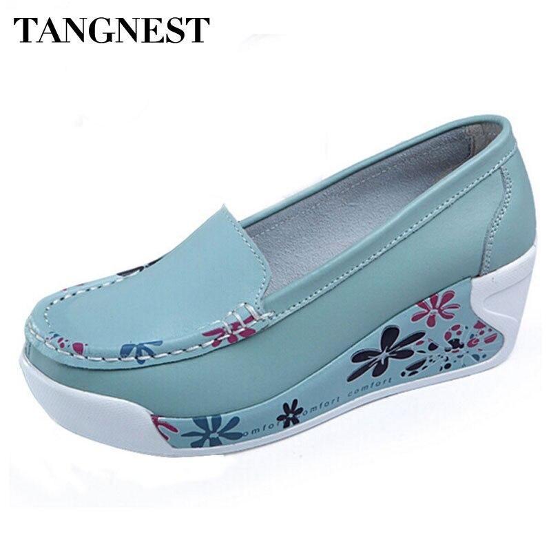 2dc67c99 Tangnest 2017 verano mujeres plataforma casual slip-on wedge Sandalias flor  imprimir plataforma de zapatos mujeres tamaño 35 -40 xwc346