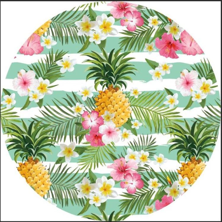 Floral Serviette De Plage Instagram Style Plage Assis Blanekt Jardin Vert Feuille Imprimé Couverture De Yoga Coucher Du Soleil Assis Tapis en Couverture