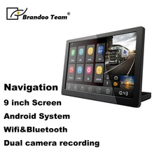 Car truck lorry WIFI GPS Navigation Android Bluetooth GPS navigation,9inch screen,dual camera recording,free shipping
