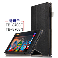 High Quality Genuine Real Leather Flip Stand Protector Shell Sleeve Cover Case For Lenovo Tab 3