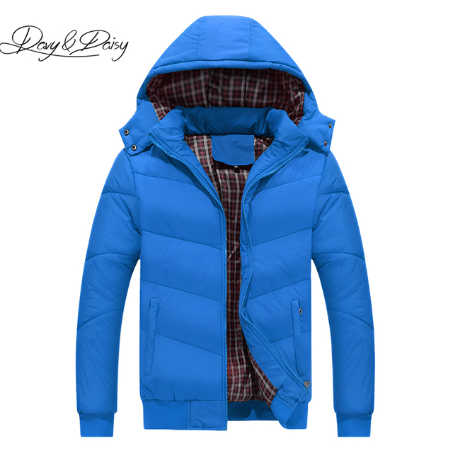 DAVYDAISY 2018 Hot Sale Men Parkas Winter Down Jacket Padded Warm Solid Thick Man Parkas Coat Brand Clothing 5XL DCT-233