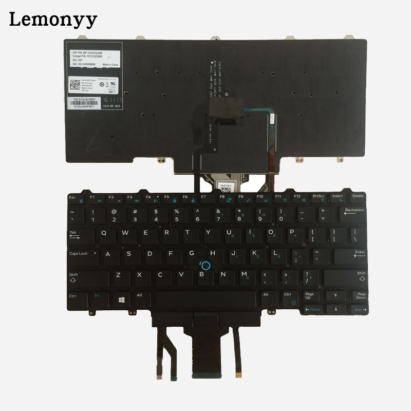 US New laptop keyboard for DELL Latitude E7250 E5450 E7470 7250 E7450 English layout with backlit keyboar new emay gaahoo zbu10 usb io board ffc flex cable for dell latitude e7450 dpn 0kcxkt zbu10 lf a961p
