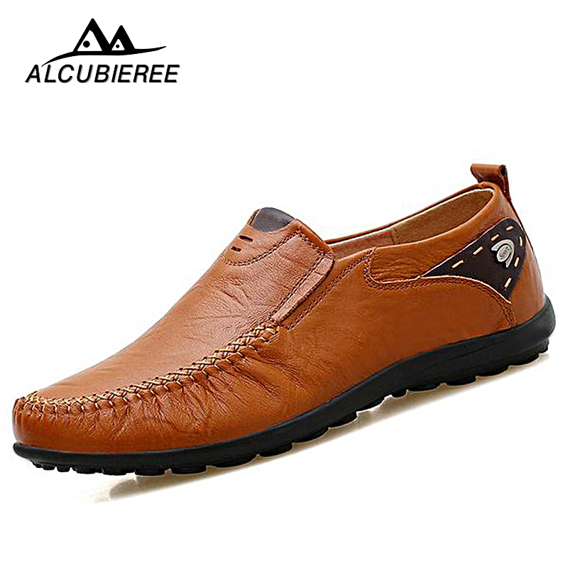 38-44 Luxury Brand Designer Sneaker Men Loafers Moccasins Genuine Leather Casual Shoes Male Footwear blaibilton brand winter warm velvet high top men casual shoes luxury genuine leather male footwear fashion designer mens sd3599