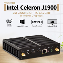 Fanless Intel Celeron Quad-core J1900 Mini PC Windows 10 Linux Desktop Computer Pocket PC NUC Nettop HTPC HD Graphics 300M WiFi