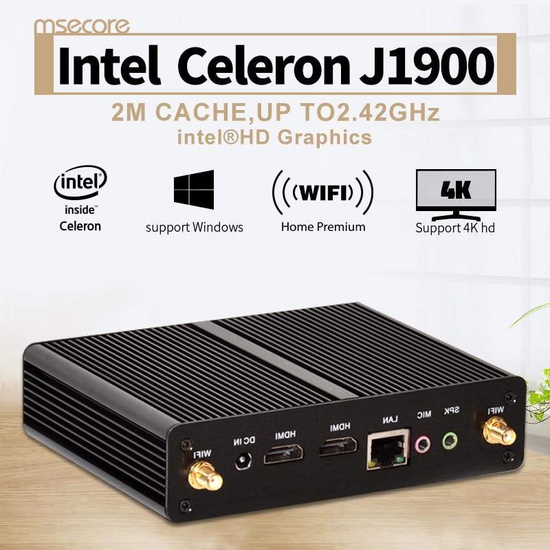 Intel Celeron J1900 Fanless Mini PC Desktop Computer TV BOX Windows 10 Nettop Windows 8 VGA
