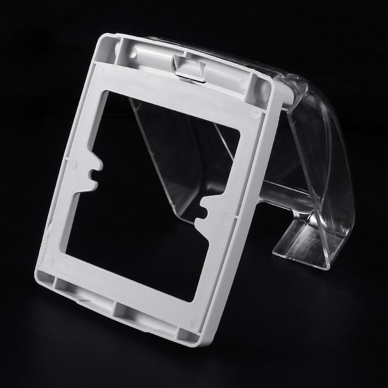 Plastic Wall Switch Waterproof Cover Box Wall Light Panel Socket Doorbell Flip Cap Cover Clear Bathroom Kitchen Accessory 5